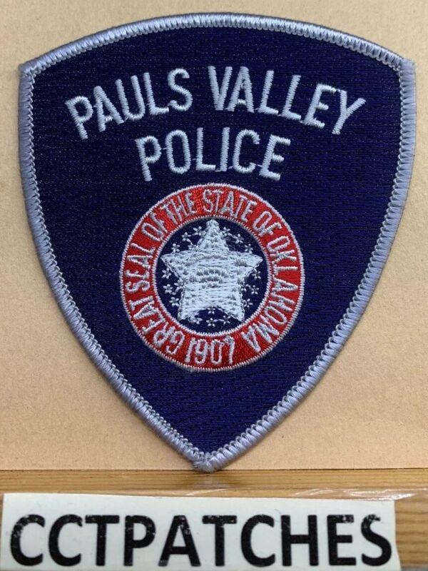 PAULS VALLEY, OKLAHOMA POLICE SHOULDER PATCH OK