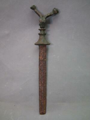 Ancient Sword Dagger Bronze Antenna Hit With Iron Blade 10th-7th Century B.C