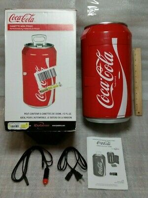 Coca Cola Coke 8 Can Mini Fridge Refrigerator Koolatron Portable Cooler AC/DC