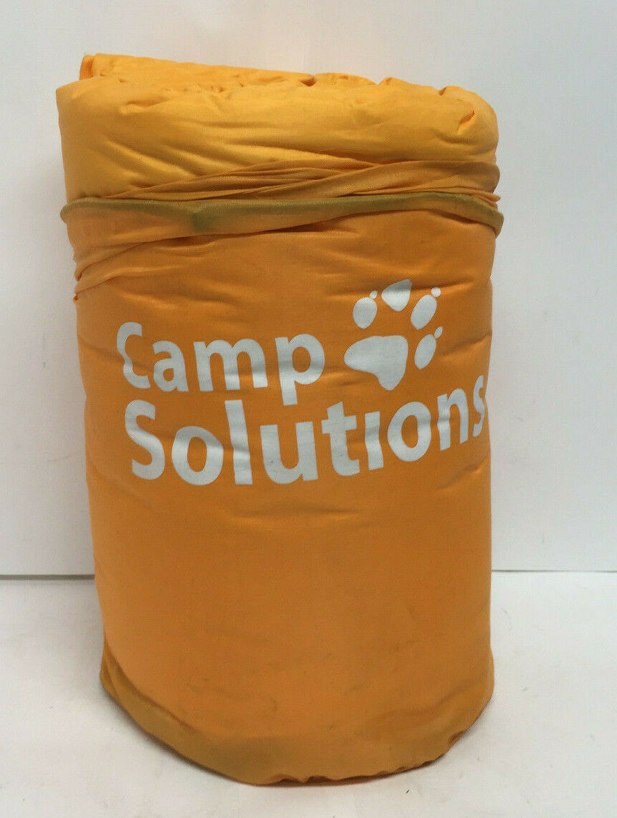 Camp Solutions Self Inflating Sleeping Pad with Pillow Orang