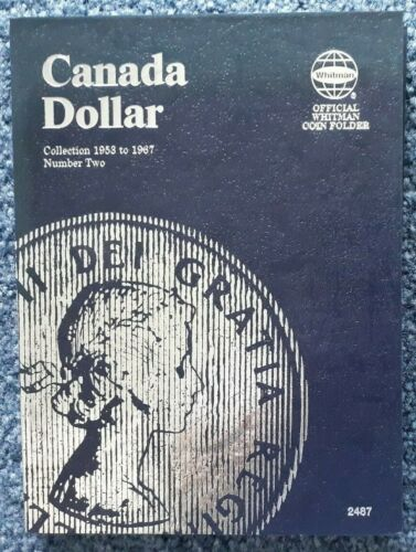 COMPLETE SET CANADA SILVER DOLLARS 1953-67  1 EACH YEAR NO VARIETIES IN FOLDER