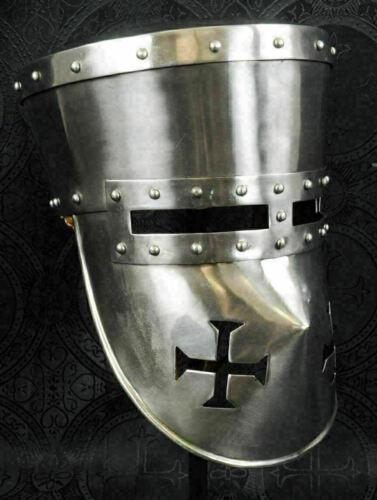 Medieval Templar Armor crusader Helmet Reproduction -Templar armor Knight helmet