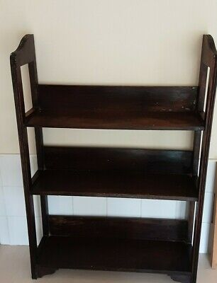 Vintage Oak Open Bookcase