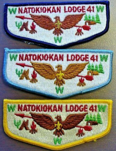 Natokiokan Lodge 41 S-9, S-10, S-11 Merged Du Page Area Council Illinois 3 Flaps