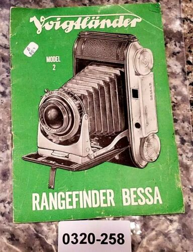 Voigtlander Rangefinder BESSA Manual Original Brochure Flyer Instructions book