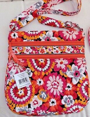 VERA BRADLEY PURSE TRIPLE ZIP HIPSTER CROSSBODY - PIXIE BLOOMS  - NEW WITH TAG