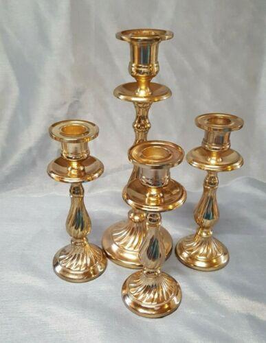 Pier 1 Gold Tone Candle Sticks Set of 4