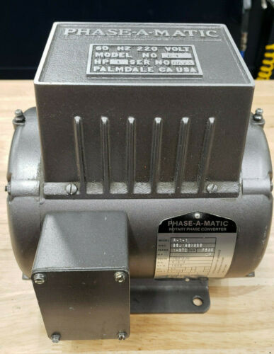 Phase-a-matic Rotary Phase Converter 1hp 3ph 208-230V (R-1-1)