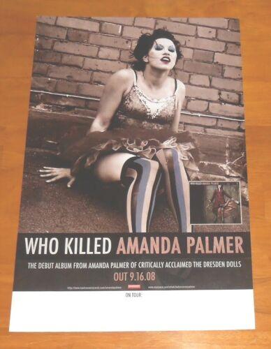Who Killed Amanda Palmer Poster 2008 2-Sided Promo Original 11x17 Dresden Dolls