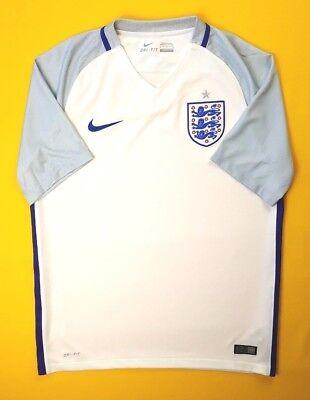 714c4eac9a3d 4.7 5 England soccer jersey medium 2016 2018 shirt 724610-100 Nike soccer  ig93
