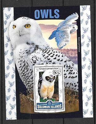 SOLOMON ISLANDS 2016 OWLS  (2) MNH