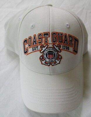 UNITED STATES COAST GUARD ALWAYS READY ADJUSTABLE WHITE HAT CAP Guard White Hat