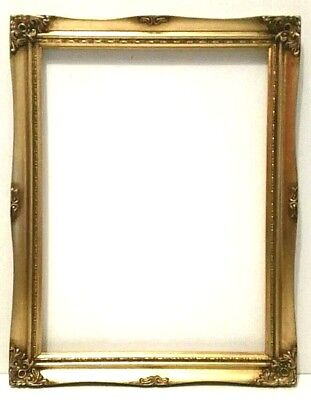 12 X 16  CLASSICAL GOLD LEAF PICTURE FRAME CARVED CORNERS 1 1/2