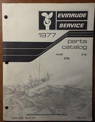 1977 EVINRUDE  OUTBOARD 2 HP  MODELS PARTS CATALOG