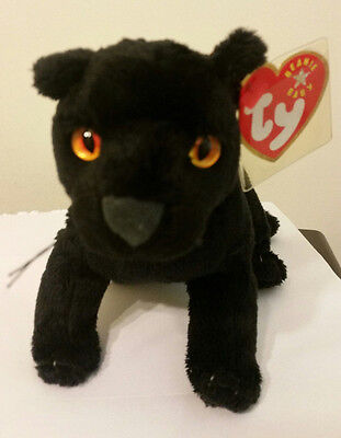 Ty Beanie Baby ~ MIDNIGHT the Black Panther ~ MINT with MINT TAGS ~ RETIRED