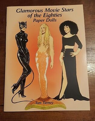 Glamorous Movie Stars Of The 1980's Uncut Paper Dolls Doll Book Tom Tierney 2002