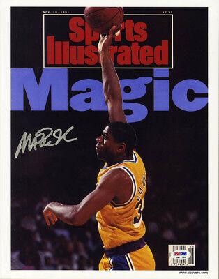 41e48784b8c Magic Johnson SIGNED Sports Illustrated Print LA Lakers ITP PSA DNA  AUTOGRAPHED