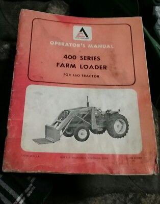 Allis Chalmers 400 Series Farm Loader 160 Tractor Operators Owners Manual Oem
