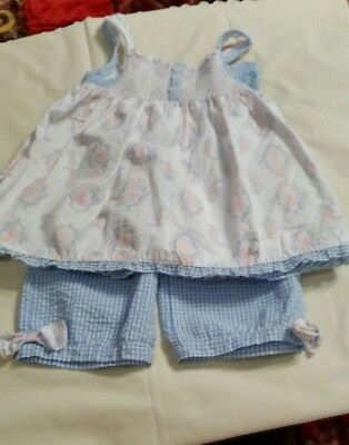 Wendy Belissimo Girl Outfit Set 24M Top Pants White Blue Gingham W / - Wendy Outfit