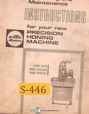 Sunnen Mbb 1650 Ms Jic Honing Machine Operations And Maintenance Manual