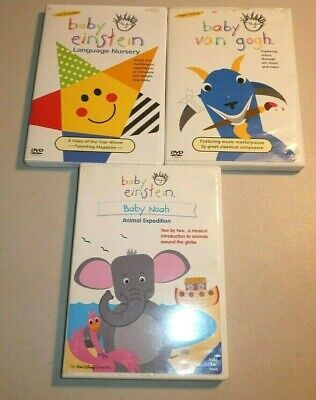BABY EINSTEIN AGE 1 AND UP DVD LOT- LANGUAGE NURSERY, VAN GOGH, BABY NOAH