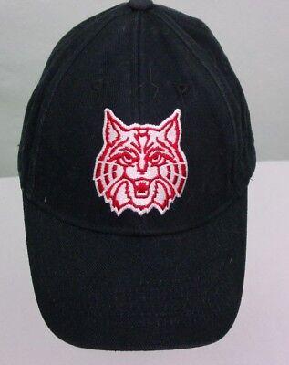 dcat Black Baseball Cap Hat Lid One Size Hook/Loop Adjustabl (Arizona Wildcats Baseball)