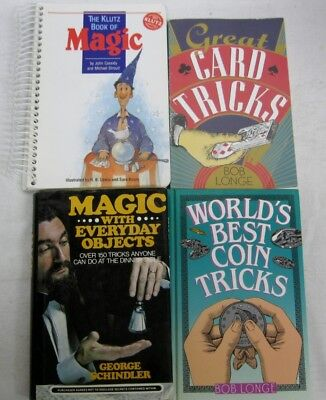 Magic Made Easy 4 Book Lot Best Coin Tricks Card Games Guides Beginner Easy (Best Easy Card Games)