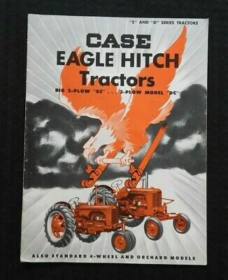 Genuine 1953 Case 2-plow Sc 3-plow Dc Eagle Hitch Tractor Catalog Brochure