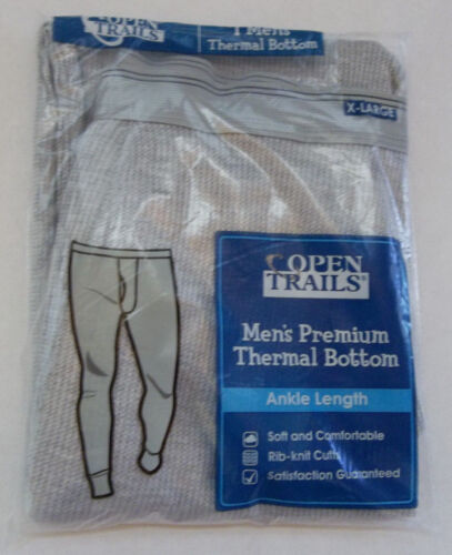 """Open Trails Thermal Bottom #2 """" Heather Grey """" XL ( 40 - 42 ) ~ New"""