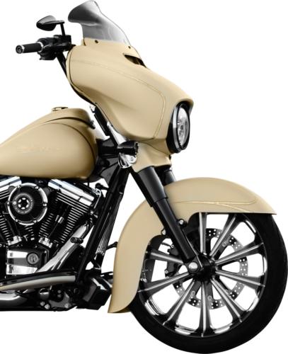 "Klock Werks Flare 8.5"" Windshield Dark Smoke for 14-20 Harley Touring FLHT FLHX"