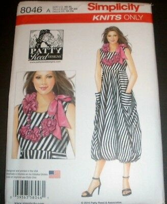 Simplicity Knit Dress Pattern 8046 Misses & Plus XS to XL (6 to 24) Uncut