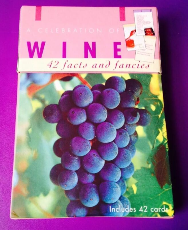 A CELEBRATION OF WINE 42 CARD SET COMPLETE • 42 FACTS & FANCIES • NICE!