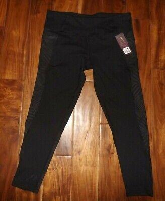 NWT Womens Z by Zobha High Waist Black Elevate Leggings Zip Ankle Pants XL