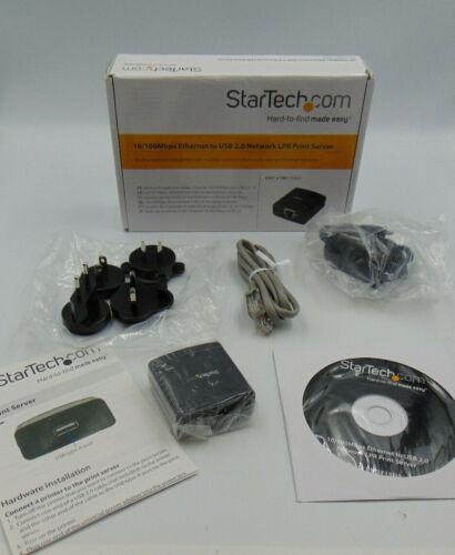 StarTech PM1115U2 10/100 Mbps Ethernet To USB 2.0 Network LPR Print Server