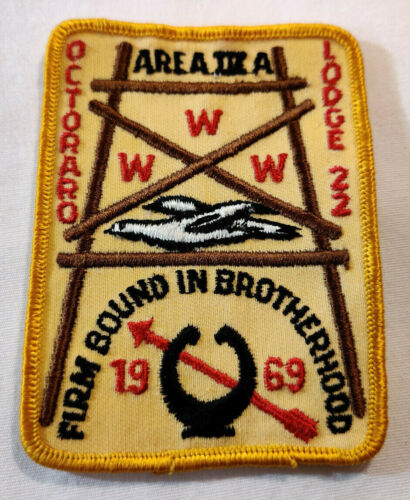 Vtg 1969 Octoraro Lodge 22 BSA Patch BSA Firm Bound In Brotherhood Area III A