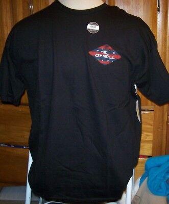 NEW O'Neill short sleeve t shirt men sz XL Black 2 sided FIREWORKS ()