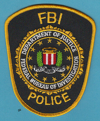 FBI DEPARTMENT OF JUSTICE POLICE SHOULDER PATCH