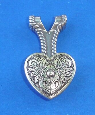 Western Cowgirl Jewelry Antique Silver Diablo Heart Concho Pendant Kit
