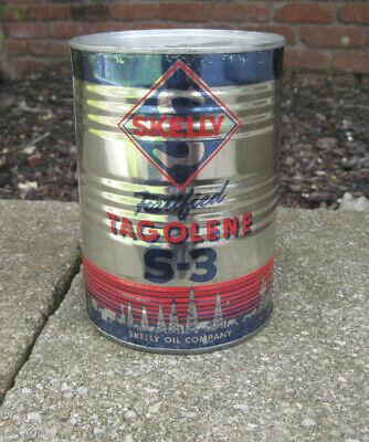 Vintage Skelly Tagoline S-3 1 Quart Motor Oil Can