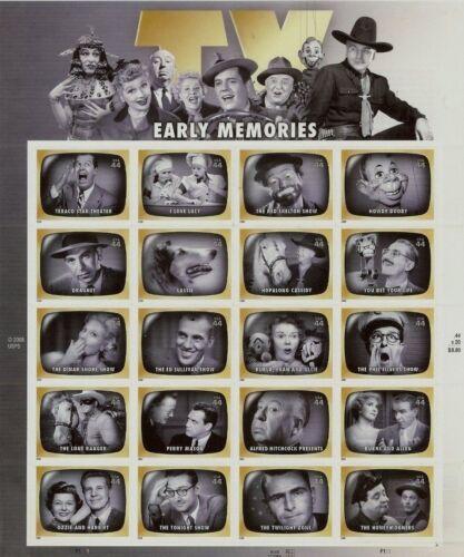 SCOTT #4414 – 2009 44c Early TV Memories - SHEET OF 20 STAMPS