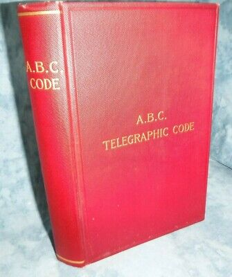 The A B C Universal Commercial Electric Telegraphic Code Financiers Brokers &&&