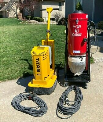 Werkmaster Titan Xt Concrete Floor Grinder Polisher Ermator S36 Vacuum