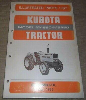 Kubota M4950 M5950 Tractor Parts Manual Book Catalog Oem Original
