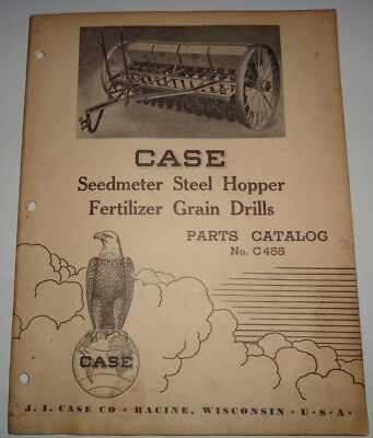 Case Seedmeter Steel Hopper Fertilizer Grain Drill Parts Catalog Book 13x7 12x7