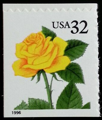 1996 32C YELLOW ROSE, SA SCOTT 3049 MINT F/VF NH