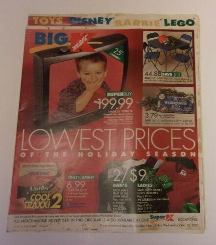 Big Kmart store sales ad November 19-22, 2000: old school tech & more!