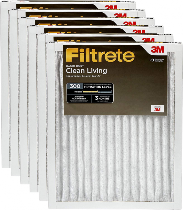 Filtrete AC Furnace Air Filter, MPR 300, Clean Living Basic