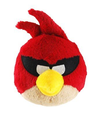 """Angry Birds Plush In Space Red No Sound Plush Doll 5"""" New"""