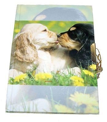 Süsse Cocker Spaniel  Dog Hunde Tagebuch mit Schloß  Notiz Buch Neu OVP