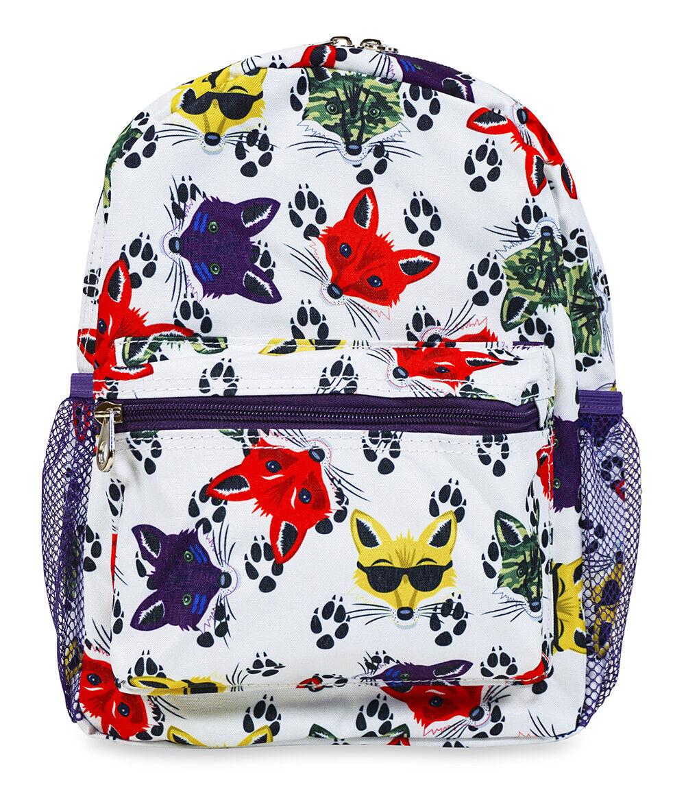 Jenzys Boys Fox Mini Toddler Backpack Bag For Preschool or K